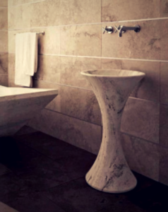 Stone Pedestal Wash Basins: